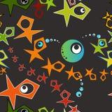 Безшовный конспект картины геометрический с глазами иллюстрация вектора