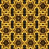 Безшовный конспект картины золота Стоковое фото RF