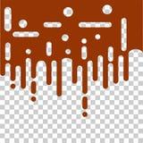 Безшовный конспект плавя желтой линии округленные краской переход полутонового изображения и иллюстрацию предпосылки вектора выпл Стоковые Фотографии RF