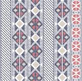 Безшовный конспект формирует картину в этнической картине на текстуре ткани иллюстрация штока