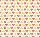 Безшовный красный цвет картины формы сердца Стоковое Изображение RF