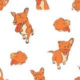 Безшовный красный щенок собаки ягнится иллюстрация бесплатная иллюстрация