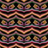 Безшовный красочный абстрактный цветочный узор волны иллюстрация штока