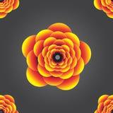 Безшовный красочный желтый апельсин 3d выбил картину предпосылки цветка Иллюстрация штока