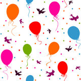 Безшовный красочный плавать воздушных шаров бесплатная иллюстрация