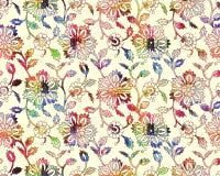 Безшовный красочный цветочный узор иллюстрация штока