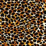 Безшовный леопард, оцелот или дикая печать картины меха кота бесплатная иллюстрация