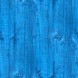 Безшовный обои деревянной загородки текстуры старые голубые Стоковые Фото