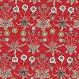 Безшовный одуванчик стоцвета картины установил реалистическую изолированную иллюстрации вектора предпосылки цветков гравировку ви стоковые изображения rf
