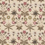 Безшовный одуванчик стоцвета картины установил реалистическую изолированную иллюстрации вектора предпосылки цветков гравировку ви стоковые фото