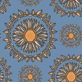 Безшовный орнаментальный цветочный узор Стоковое Фото