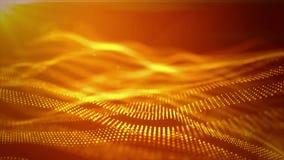 безшовный отснятый видеоматериал 4K с частицами формирует линии, поверхности, решетку сток-видео