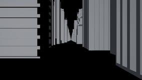 Безшовный перевод концепции города конспекта 3D петли Здания цифров иллюстрация вектора