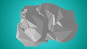 Безшовный плавать и Moving абстрактная геометрическая анимация иллюстрация штока
