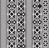 Безшовный племенной дизайн картины в черно-белом бесплатная иллюстрация