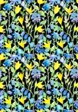 Безшовный повторенный цветочный узор с цветками Стоковые Изображения RF