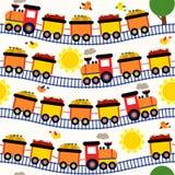 Безшовный поезд картины с плодоовощами Стоковая Фотография