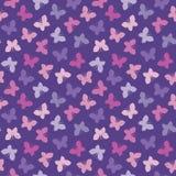 Безшовный пурпур пинка бабочек предпосылки битника Стоковое Фото