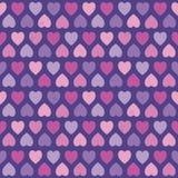 Безшовный пурпур пинка картины сердец битника Стоковые Изображения