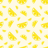 Безшовный плодоовощ лимона картины также вектор иллюстрации притяжки corel Стоковые Изображения RF