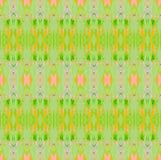 Безшовный регулярн апельсин зеленого цвета картины Стоковое Изображение RF