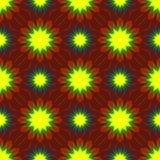 Безшовный симметричный вектор флористического орнамента Стоковое Изображение