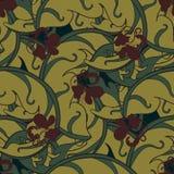 Безшовный симметричный вектор флористического орнамента Стоковое Фото