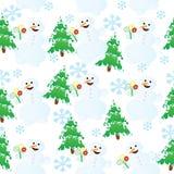 безшовный снеговик иллюстрация вектора