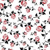 Безшовный стиль Арт Деко цветочного узора иллюстрация вектора