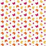 Безшовный с бабочками. Иллюстрация вектора. Стоковое Изображение