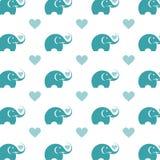 Безшовный слон обоев Стоковая Фотография