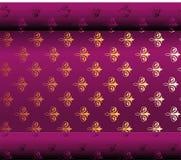 Безшовный темный фиолетовый вектор обоев Стоковые Фото