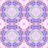 Безшовный фиолет сирени картины концентрических кругов Стоковая Фотография