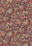 Безшовный флористический винтажный дизайн бесплатная иллюстрация