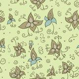 Безшовный флористический орнамент Стоковое Изображение