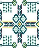 Безшовный фольклорный геометрический дизайн Стоковые Изображения