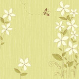 Безшовный флористический зеленый цвет карточки Стоковое фото RF