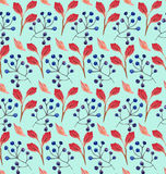 Безшовный флористический орнамент акварели Стоковое Изображение RF