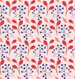 Безшовный флористический орнамент акварели Стоковые Фотографии RF