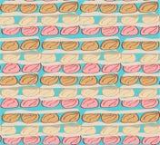 Безшовный хлеб плюшки пастельного цвета картины Стоковые Фотографии RF