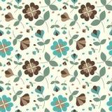Безшовный цветок pattern_2 Стоковые Изображения RF