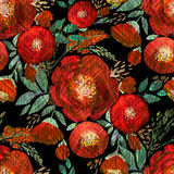 Безшовный цветочный узор акварели Стоковое Изображение RF