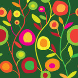 Безшовный цветочный узор в простом декоративном стиле Стоковые Изображения RF