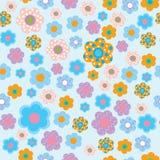 Безшовный цветочный узор в стиле детей иллюстрация вектора
