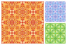 Безшовный цветочный узор в цветовых схемах другого цвета Стоковое Фото