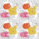 Безшовный цветочный узор для тканей, упаковывая, обои, крышки Нарисованная рука предпосылки акварели флористическая стоковое изображение rf