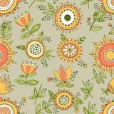 Безшовный цветочный узор, декоративная предпосылка Стоковые Фото