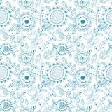 Безшовный цветочный узор, декоративная предпосылка Стоковые Изображения RF