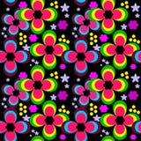 Безшовный цветочный узор детей с яркими цветками иллюстрация вектора