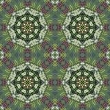 Безшовный цветочный узор, картина маслом Стоковые Фото